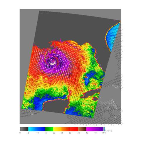A 2005 image of Hurricane Katrina in the Gulf of Mexico from NASA's QuikScat scatterometer - See more at: http://jpl/news/news.php?release=2014-223#sthash.kAh56oo1.dpuf