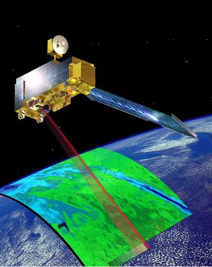 Terra is the EOS-AM satellite which together with the EOS-PM satellite let the MODIS instruments view the entire planet every 1 to 2 days