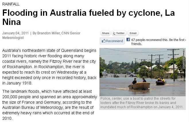 newspaper articles floods in australia