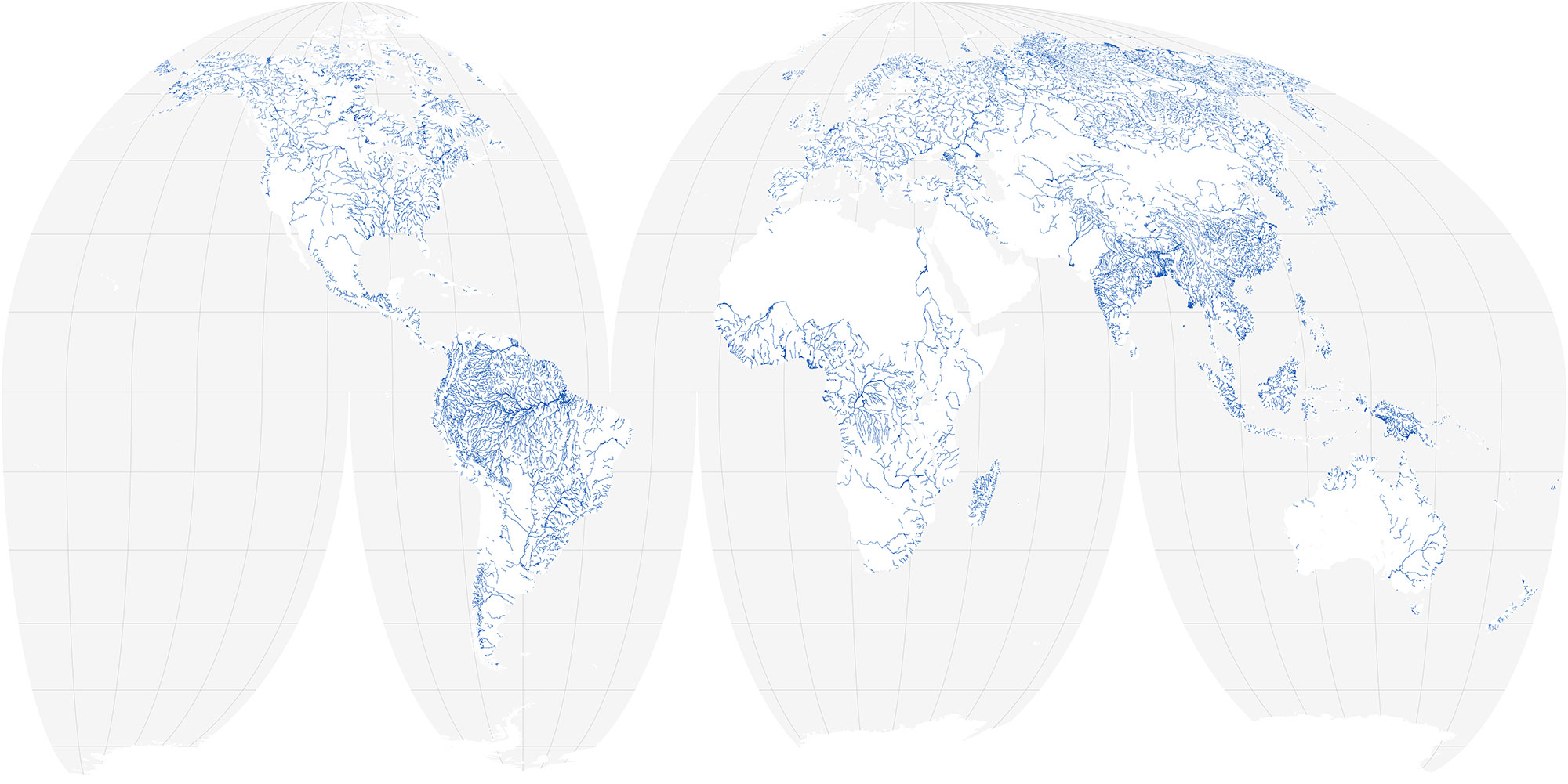 This Figure demonstrated a new database of rivers and their widths will be used to interpret data from SWOT, which will measure changes in river and lake heights globally. Note that there are certain regions of the globe where SWOT will not be measuring such as the Sahara dessert.