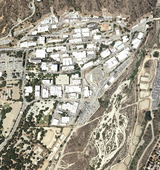 Ariel shot of Jet Propulsion Laboratory (JPL) in Pasadena, California.