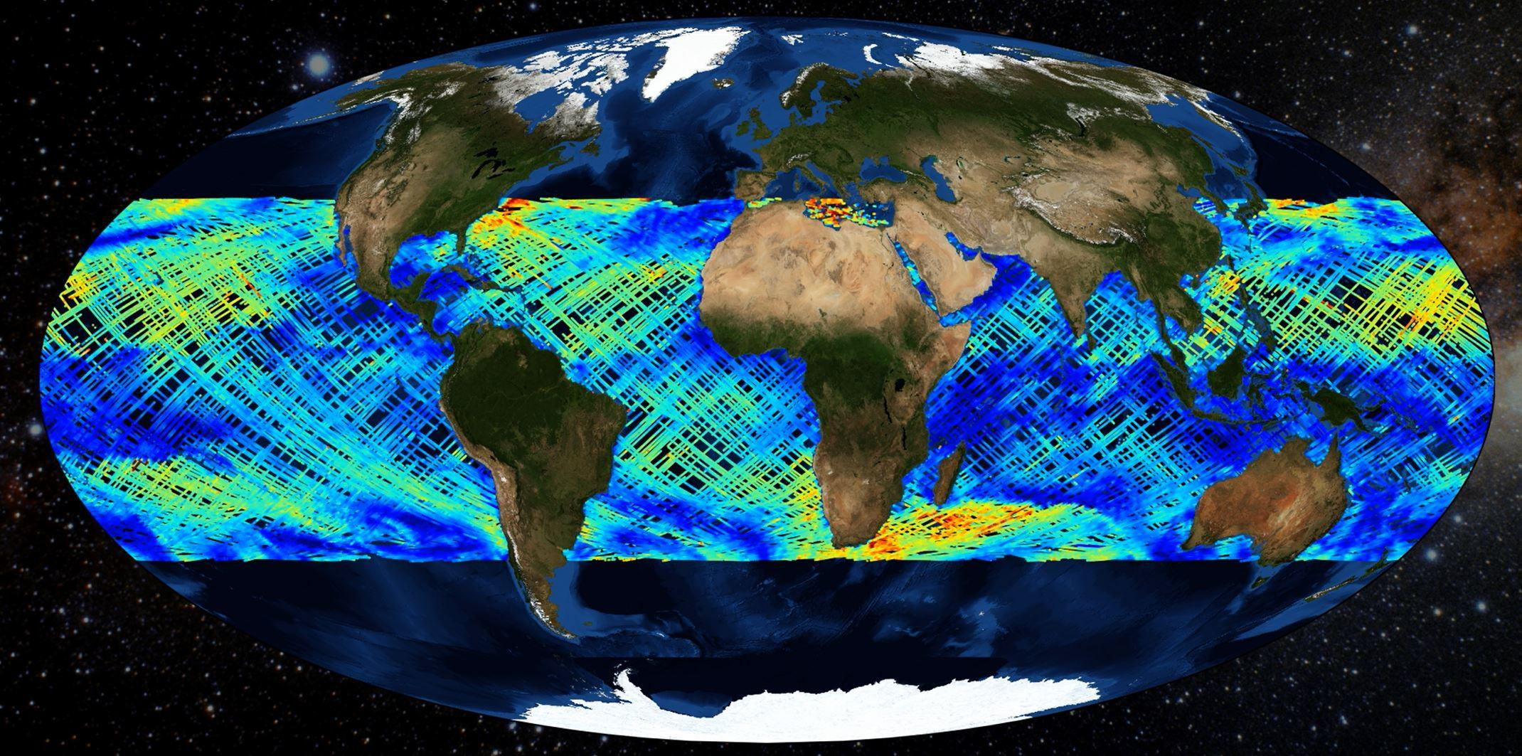 This graphic illustrates information gathered from NOAA CYGNSS Level 2 Science Wind Speed 25-km Product Version 1.1