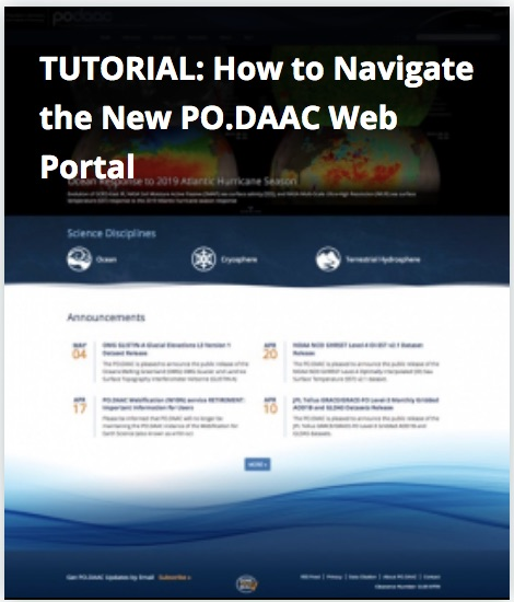How to Navigate the PO.DAAC Portal