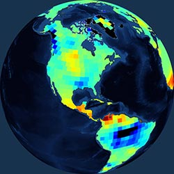 Globe icon / screenshot representing Surface Water Measurement