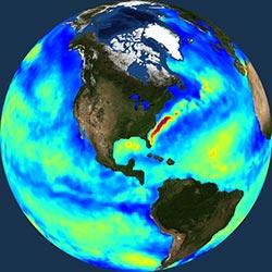 Globe icon / screenshot representing Ocean Heat Budget Measurement
