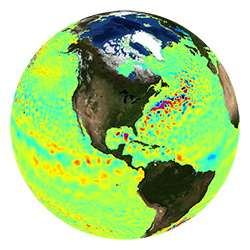 Globe icon representing Ocean Surface Topography