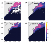 Modelling marine fish species spatiotemporal distributions utilizing NASA earth system data in a maximum entropy framework