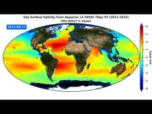 Embedded thumbnail for IPRC/SOEST Optimally Interpolated Sea Surface Salinity (OISSS) Aquarius V5.0 Animation