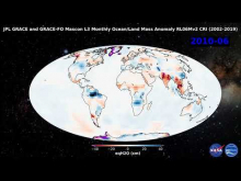 Embedded thumbnail for JPL GRACE and GRACE-FO Mascon L3 Monthly Global Mass Anomaly RL06Mv2 CRI (2002-2019)